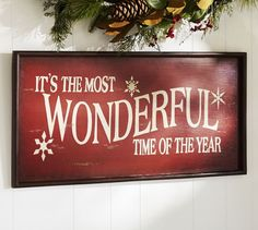 Its the Most Wonderful Time of the Year Sign Wall Art