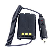 Product Description: This Car battery eliminator for Baofeng UV-5R.  Clips to the back of the transceiver in place of the battery.  Cable plugs into cigarette lighter or accessory socket (12V only) allowing the radio to be run off the car battery.