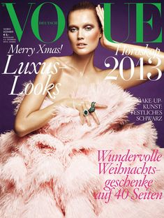Cover with Toni Garrn December 2012 of DE based magazine Vogue Germany from Condé Nast Publications including details. Vogue Covers, Vogue Magazine Covers, Fashion Magazine Cover, Fashion Cover, Toni Garrn, Fashion Models, High Fashion, Fashion Themes, Fashion Bloggers