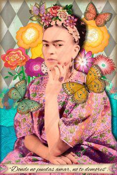 10 Frida Kahlo Digital Collage Instant download. Digital Shett