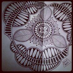Another Huggin' Trees Mandala. #mandala #doodle #zentangle #zendala #moleskine #artjournal | Flickr - Photo Sharing!