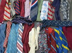 Neck Tie Crafts Quilting Fabric Silk Upcycle Projects 26 Ties LOT BDSM #Assorted