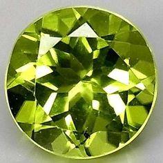 1.52 Cts Perfeito Peridoto Limão Verde Natural Super Cor Aa+ - R ...