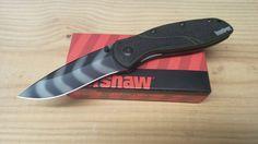Kershaw Blur Assisted Opener Knife Olive Tiger Stripe Drop Point Folder 1670OLTS #Kershaw