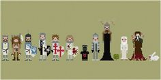 Monty Python and the Holy Grail cross stitch pattern