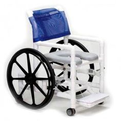 PVC Self-Propelled Shower/Commode Chair | 1800wheelchair.com