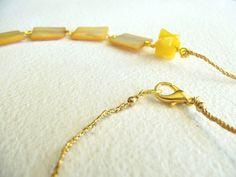etsy.com  Sunshine Shell Necklace by GemC on Etsy, $25.00