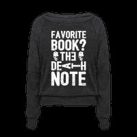 Favorite Book? The Death Note Pullover