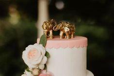 Wedding Cake Topped with Gilded Elephants Wedding Story, Our Wedding, Wedding Cake Toppers, Wedding Cakes, Santa Rosa California, Tintype Photos, Cake Toppings, Wedding Pictures, Elephants