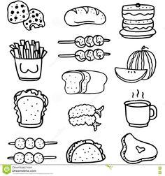 draw doodle drawings coloring unhealthy easy drawing voedsel healthy vastgestelde krabbel trekt gesetzten abgehobenen betrages lebensmittels gekritzel scarabocchio stabilito alimento