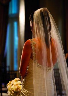 High Ponytail with Veil #wedding #highponytail #veil