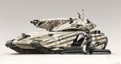 Main Battle Tank by Abiogenisis on DeviantArt Another awesome piece by Alex Ries. The serpent-thing is the pilot.