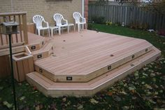 tiered decks -lighting for deck