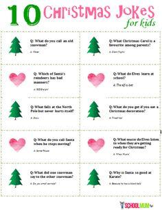 10 Christmas Jokes For Kids (with printable) - School Mum