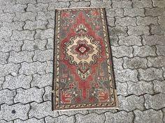 Wool Rug 85 x 37 cm = 2.8 x 1.2 ft Home Decor Vintage Rug Boho Deco Boho Decor Rug Carpet Turkish Rug Handmade Rug Doormat Rug
