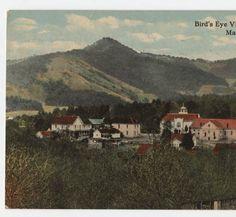Bird's Eye View, Mars Hill College, Mars Hill, N.C. :: North Carolina Postcards