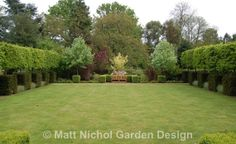 Formal pleached hedging in a traditional garden by Matt Nichol Garden Design.
