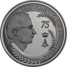 10 Euro Silber 75. Geburtstag von König Albert II. PP