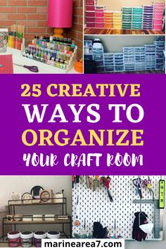 If your messy craft room is affecting your creativity these brilliant craft room organization ideas will help you. Try these home organizing ideas and enjoy being able to do more mess-free crafting and have better supplies storage. #Crafts #Organizing