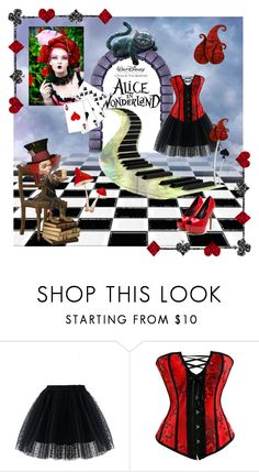 """""""Alice in Wonderland"""" by gragra-537 ❤ liked on Polyvore featuring Chicwish, Burton, contestentry and DisneyAlice"""