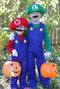 Felt Mario and Luigi Overalls