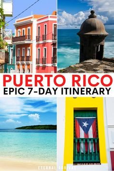 Traveling to Puerto Rico? Here's a 7 day Puerto Rico itinerary that covers the best of the island: San Juan, El Yunque, Fajardo & Vieques! PR Itinerary | things to do in Puerto Rico | itinerary for Puerto Rico | places to visit in Puerto Rico | one week in Puerto Rico | 7 days in puerto rico | 7 day PR itinerary Alaska Travel, Iceland Travel, Hawaii Travel, Usa Travel, Travel Goals, Travel Tips, Travel Destinations, South America Travel, North America