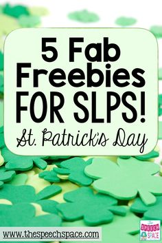 Here are some fabulous St. Patrick's Day freebies to make your speech therapy planning a bit easier! - repinned by @PediaStaff – Please Visit  ht.ly/63sNt for all our pediatric therapy pins