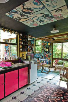 This Bohemian Style home of an artist was featured in New Zealand Hose and Garden.