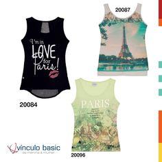 O tema Belle Paris é um dos pontos fortes da coleção Alto Verão Vínculo Basic. Com estampas de poás, letreiros em francês, estampas de beijinhos e outras referências ao clima parisiense, ele deixa o seu verão ainda mais charmoso!   #AltoVerão #Paris