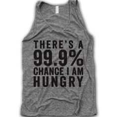 I love this shirt but honestly that is how I used to be - I've slowly learned how to portion control and now I'm able to loose weight WITHOUT being hungry all the time. I've got two online fitness and nutrition bootcamps starting up in the next couple of weeks and I would love for you to join me just sent me an email at inspiredsimply@gmail.com