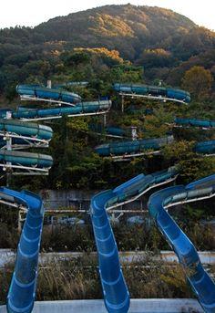 overgrown waterslides