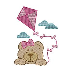 Towel Embroidery, Embroidery Applique, Machine Embroidery, Embroidery Designs, Bolo Fake, Teddy Bear, Kids Rugs, Scrapbook, Sewing