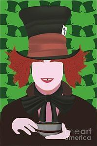 Tim Burton Digital Art - Mad Hatter by Martin Salatta