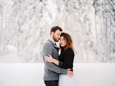 Winter Engagement Photos in Portland: Jade + Ryan