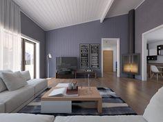 moderne wohnzimmer mit offener kuche modernes wohnzimmer mit kuche ... - Wohnzimmer Modern Tapezieren