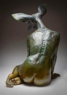 Colin and Kristine Poole – Sculpture – Spirit Deer - Karen HomePagee Art Sculpture, Animal Sculptures, Inspiration Artistique, 3d Figures, Contemporary Sculpture, Art Graphique, Art Plastique, Installation Art, Dark Art