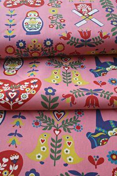 Japanese Trefle Kokka Scandinavian Fabric