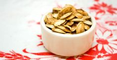 spiced pumpkin seeds.  apartment 64 - we will be making these as soon as we carve our pumpkins.