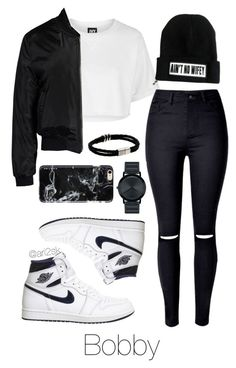 Night with Bobby by ari2sk on Polyvore featuring polyvore, moda, style, Topshop, Sans Souci, NIKE, Movado, Felony Case, fashion and clothing