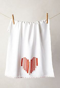 Anthropologie Heart Towel #yearofcelebrations