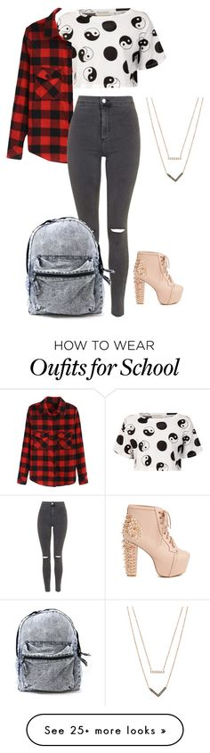"""""""school ✨"""" by xoxokanchan on Polyvore featuring Être Cécile, Topshop, Jeffrey Campbell and Michael Kors"""