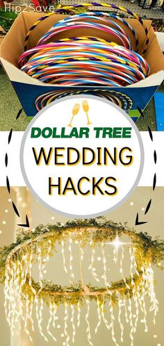Are you planning a wedding on a budget? Dollar Tree to the rescue with these frugal wedding planning ideas! (diy projects outdoors awesome)