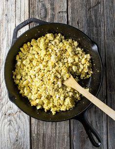 16. Vegan Breakfast Eggs http://greatist.com/eat/vegan-breakfast-recipes-you-can-make-15-minutes-or-less