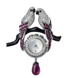 Les Heures Fabuleuses de Cartier, Birds pendant watch and brooch