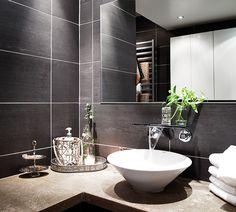 #interior #decor #styling #scandinavian #modern #bathroom #grey #tiles