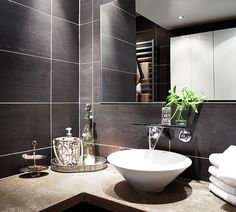 #interior #decor #styling #scandinavian #modern #bathroom #grey #tiles