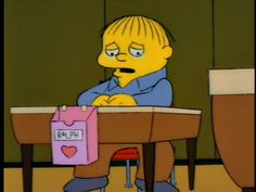 simpsons ralph valentines day card