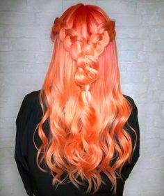 Cabelo tangerina: conheça essa coloração que já é tendência  #cabelo #hair #tangerina