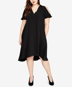 54901627cfe58 RACHEL Rachel Roy RACHEL Rachel Roy Trendy Plus Size Coretta Cold-Shoulder  Shift Dress   Reviews - Dresses - Plus Sizes - Macy s