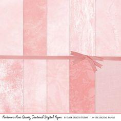 Pink Textured Digital Paper, Rose Quartz Digital Paper, Valentine's Day Digital Paper, Pink Photo Background Digital Paper, #15045B by BaerDesignStudio on Etsy